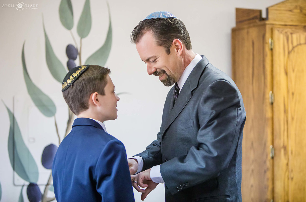 Dad-and-Son-on-Bar-Mitzvah-Day-Denver-CO