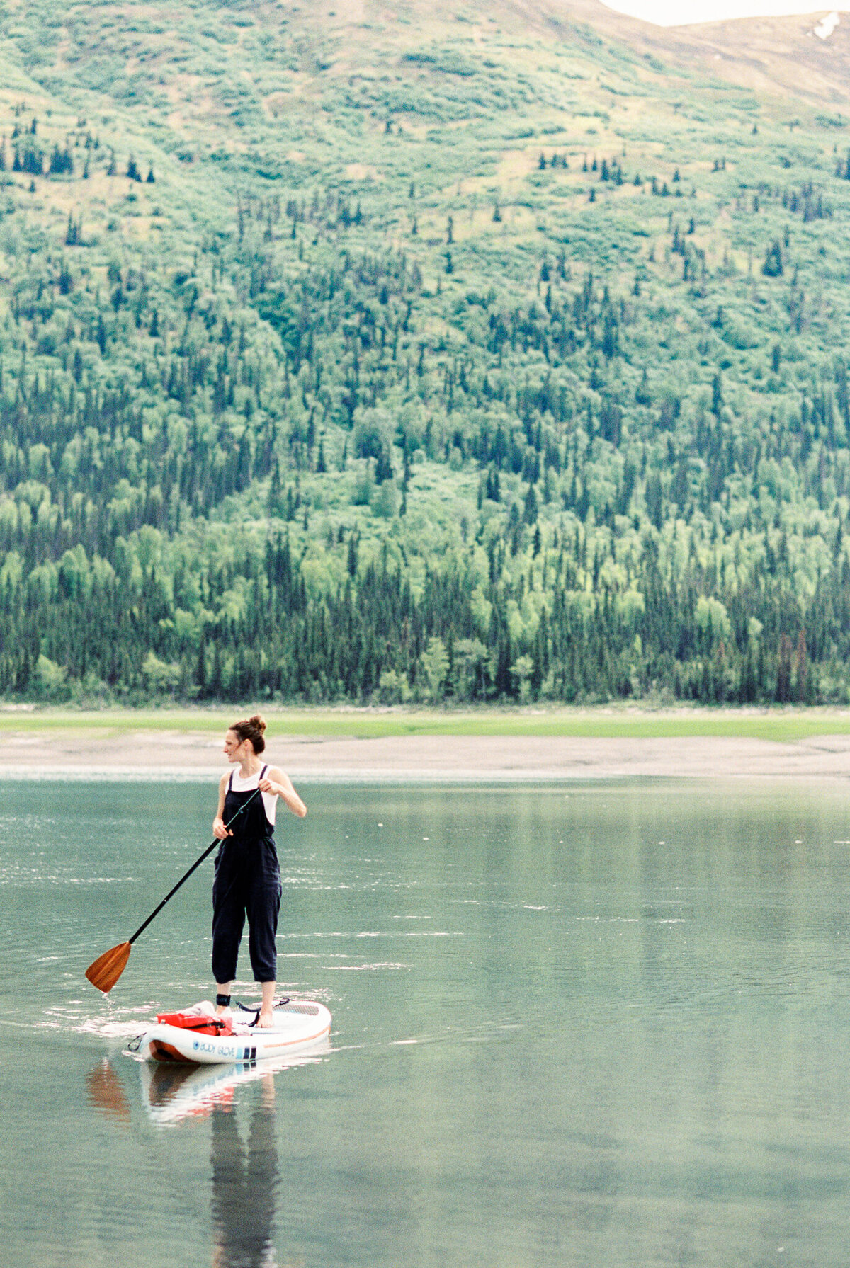 Alaska film photographer paddle board