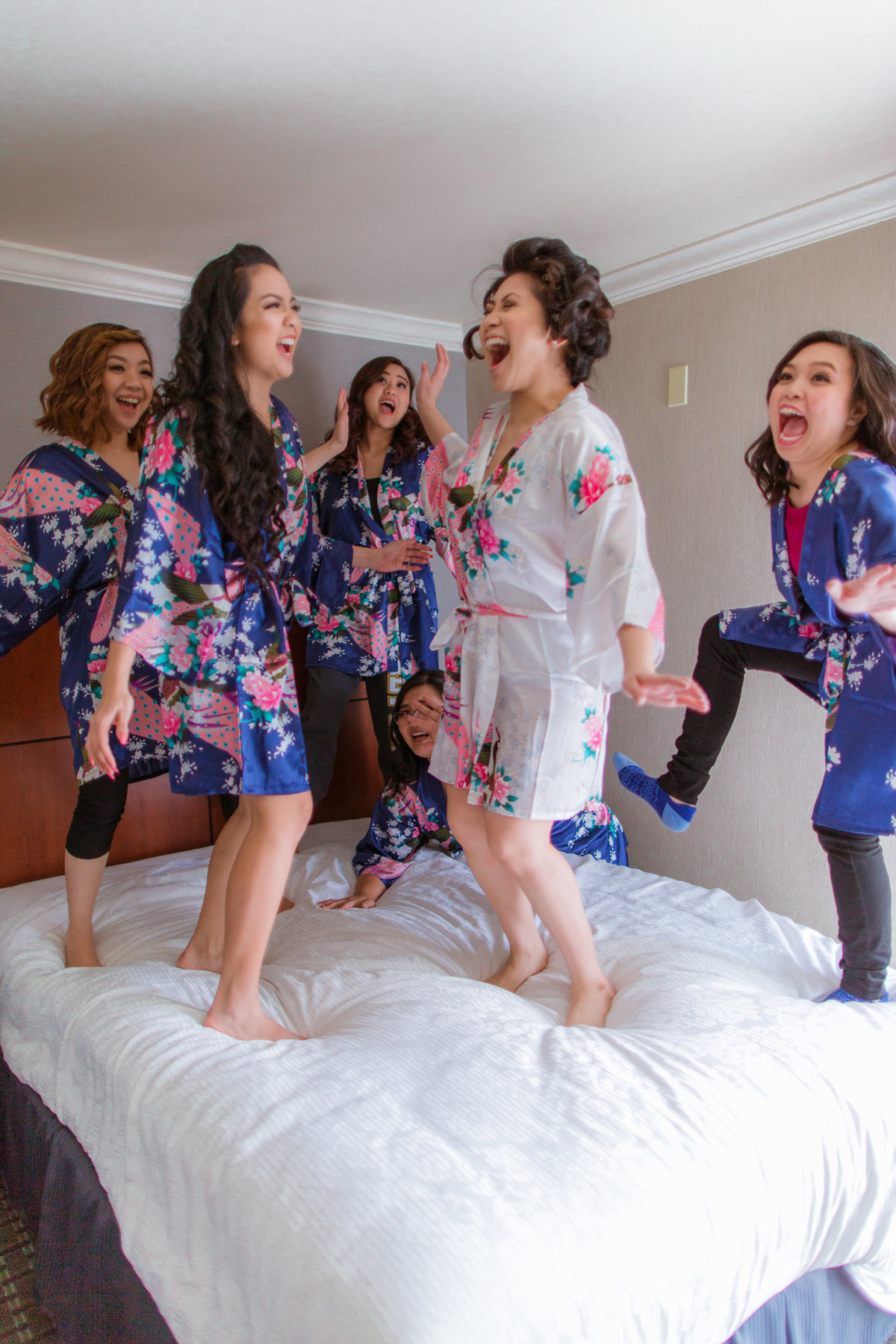 J&L Beach Wedding | Casino San Clemente | Bridesmaids Robes-1