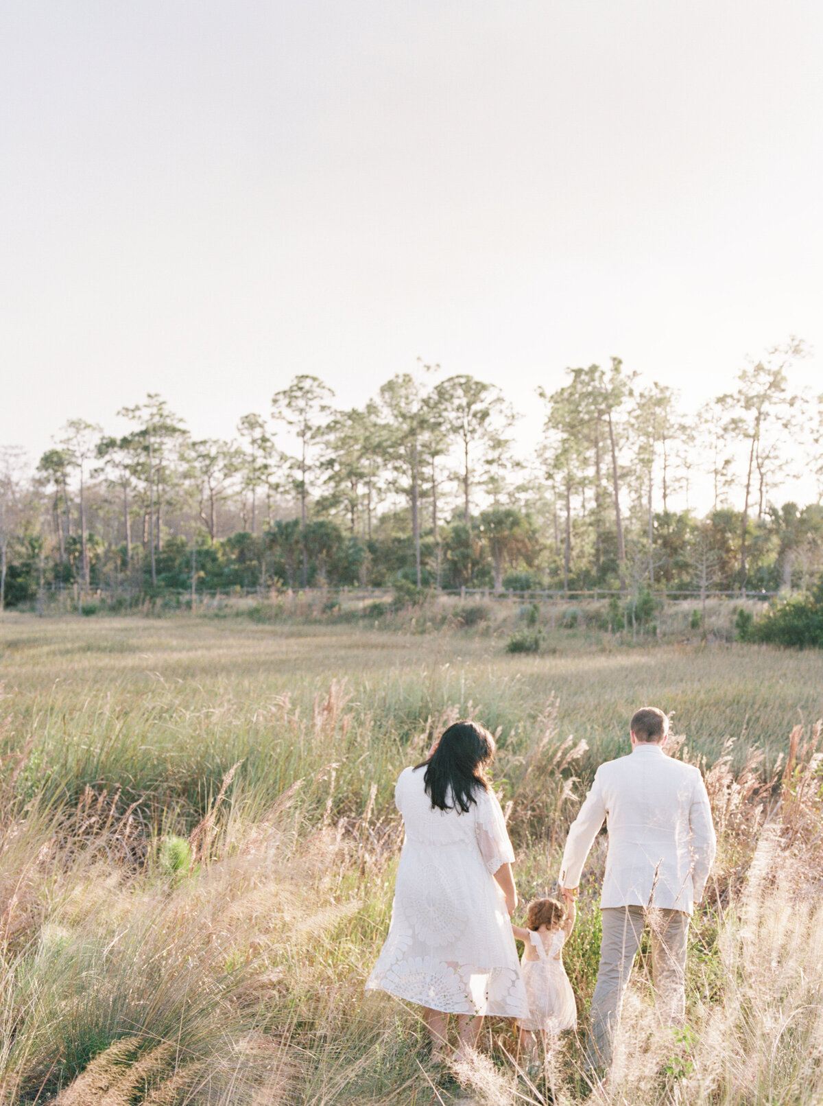 Natural Organic Field Earthy Neutral Family Session Jupiter Florida FIlm Photographer-7