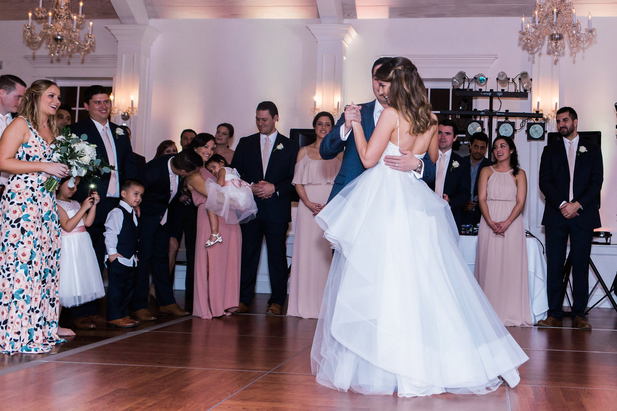 Bride and groom first dance in the White Room Wedding Venue St Augustine