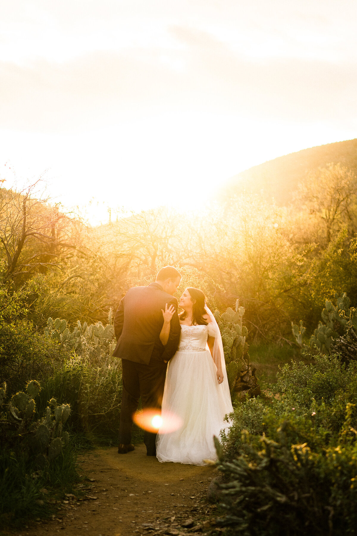 Desert Elopement Bride And Groom Portraits In Arizona - Atlas Rose Photography AZ01