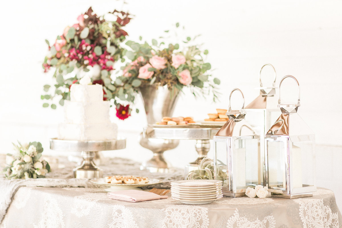 Luxe Barn Wedding Dessert Table