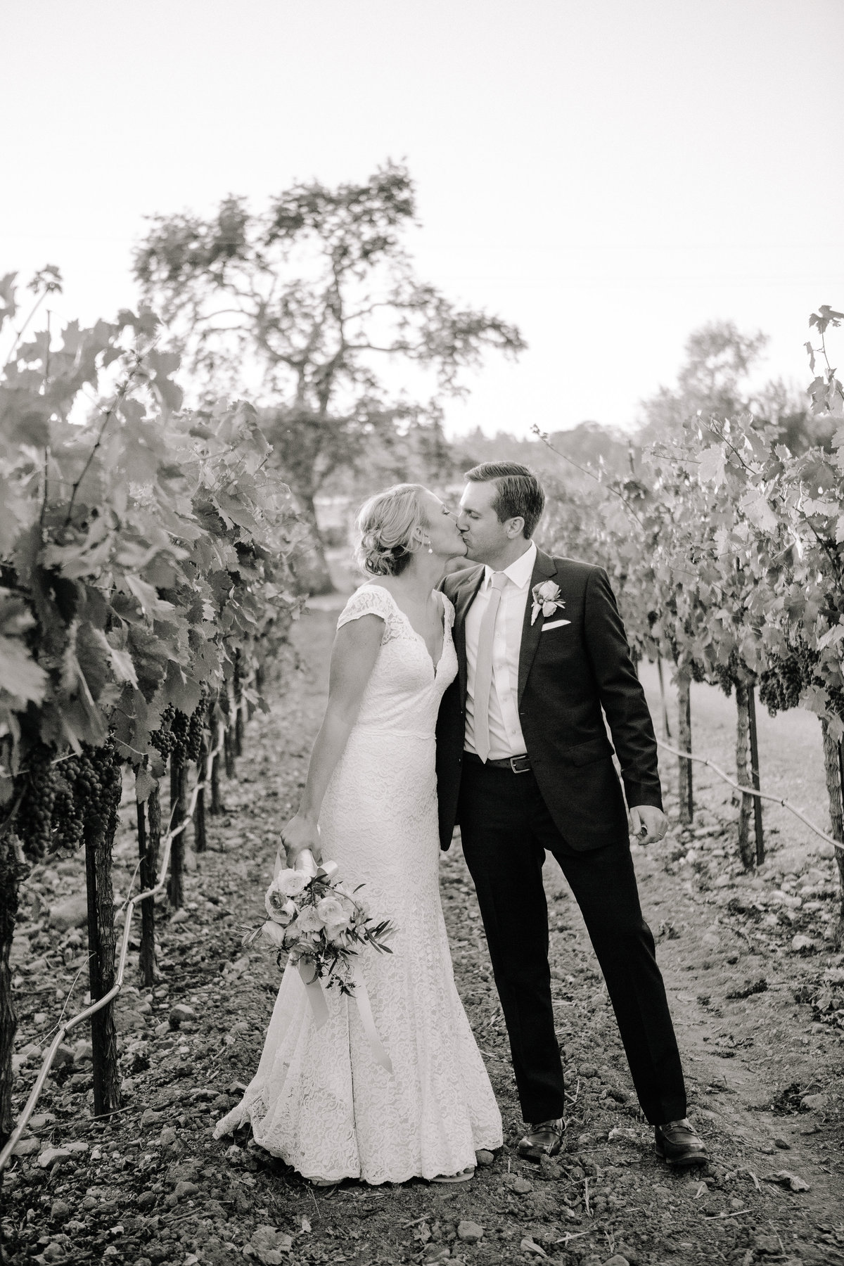 Outdoor wedding in the vines at Beltane Ranch in Sonoma.