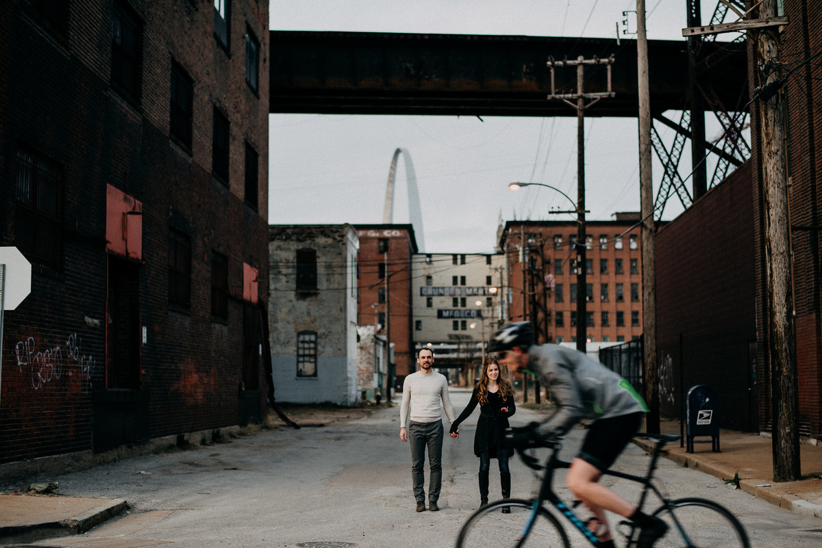 Industrial Downtown St Louis Engagement Session (44)