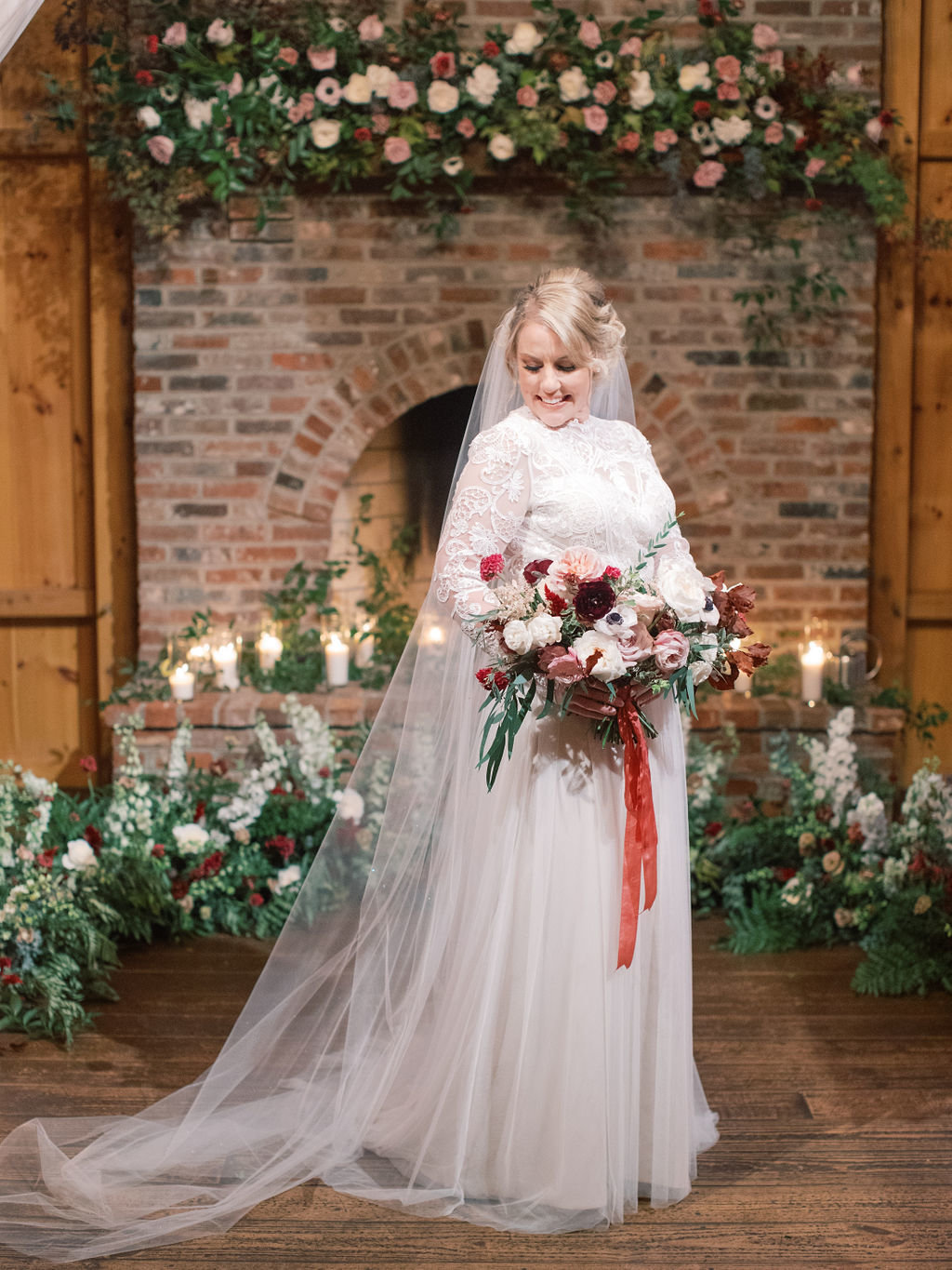 Fall bride wedding flowers philadelphia