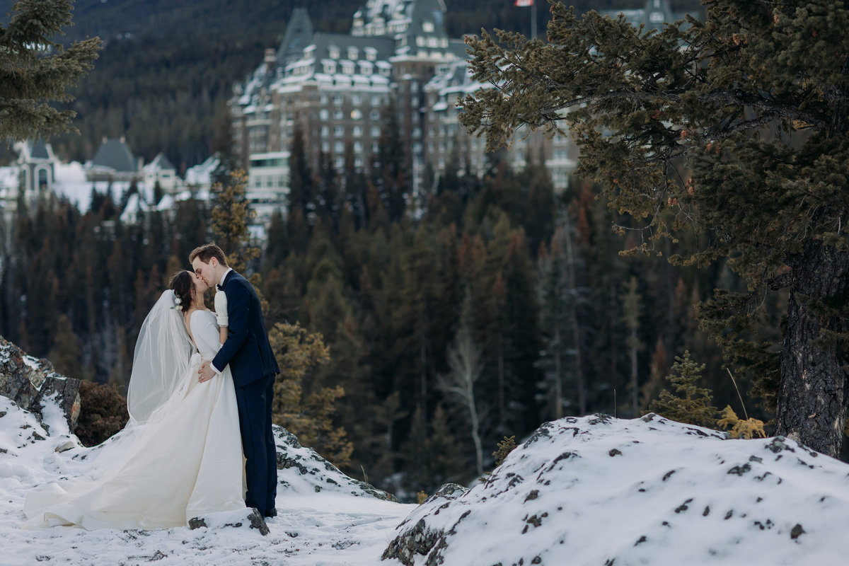 surprise corner fairmont banff springs winter wedding