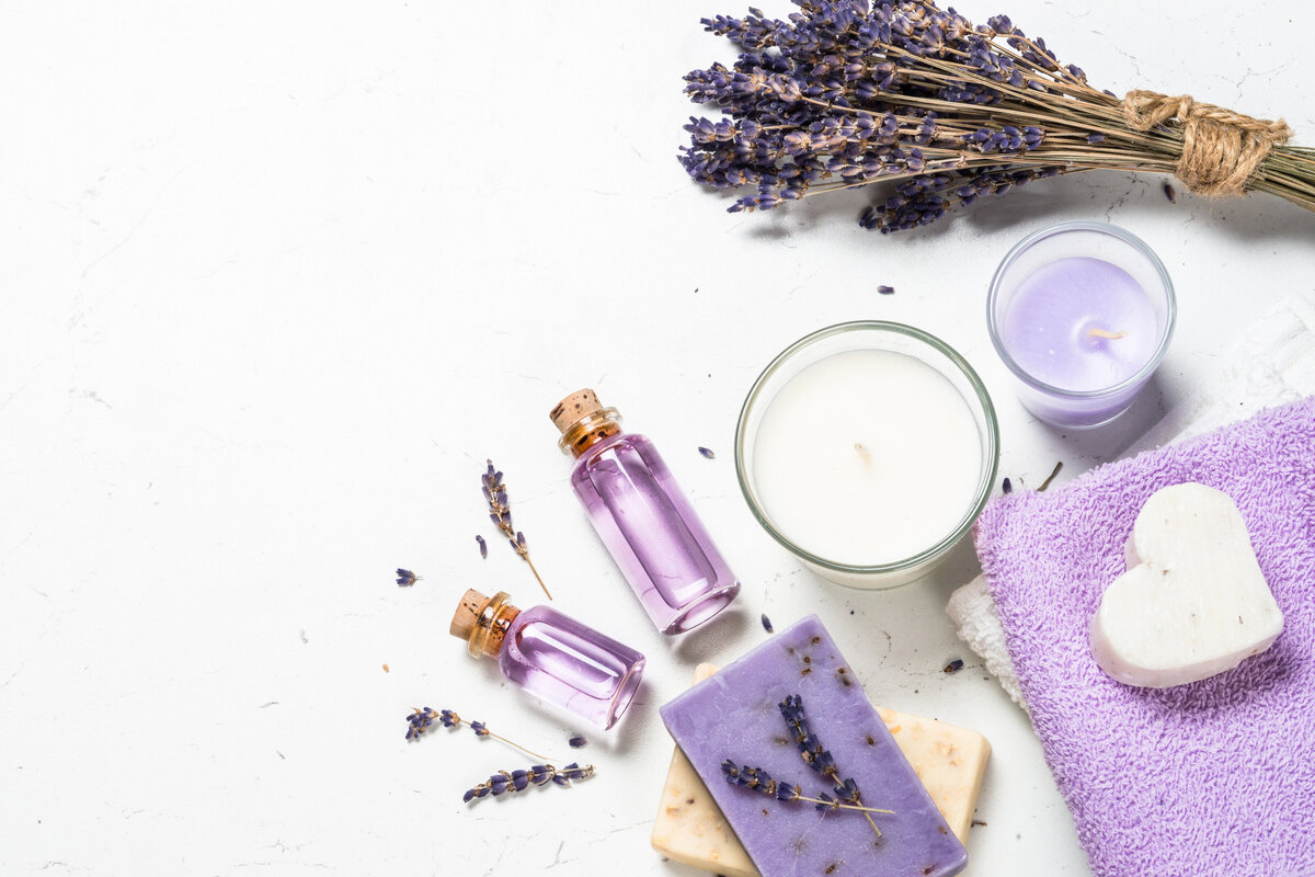 lavender-cosmetics-on-white-background-44WUX99