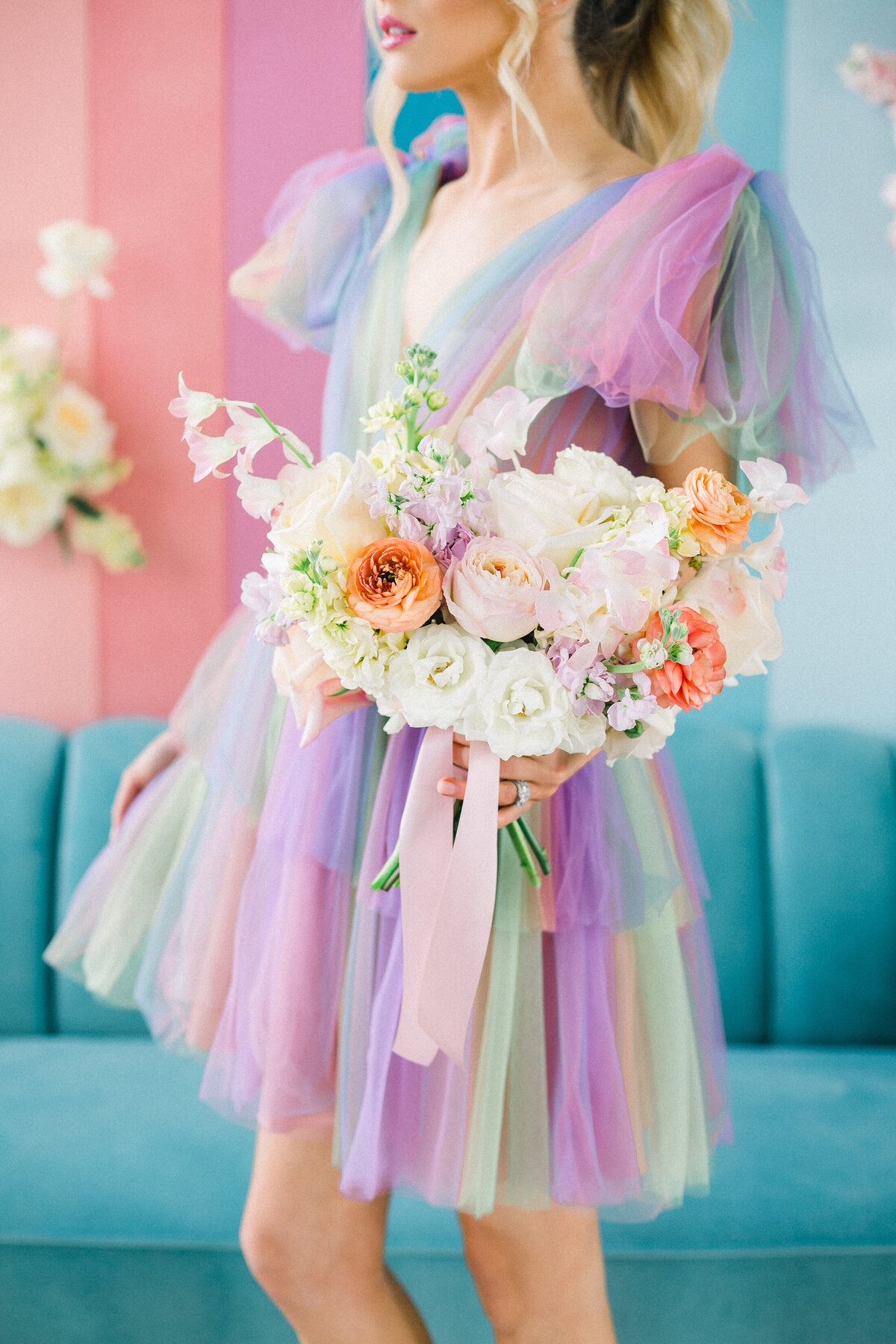 Michelle Norwood Events - Wedding Planner -  Pastel Rainbow Wedding Design - Featured on Wedding Chicks
