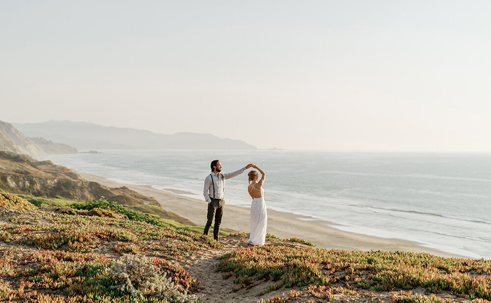 Fran + Ben San Francisco Fort Funston Wedding Portraits Cassie Valente Photography 0028