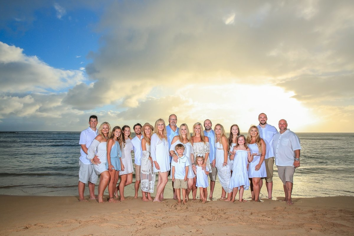 Maui Family Photography at Kapalua Bay Beach at Sunset
