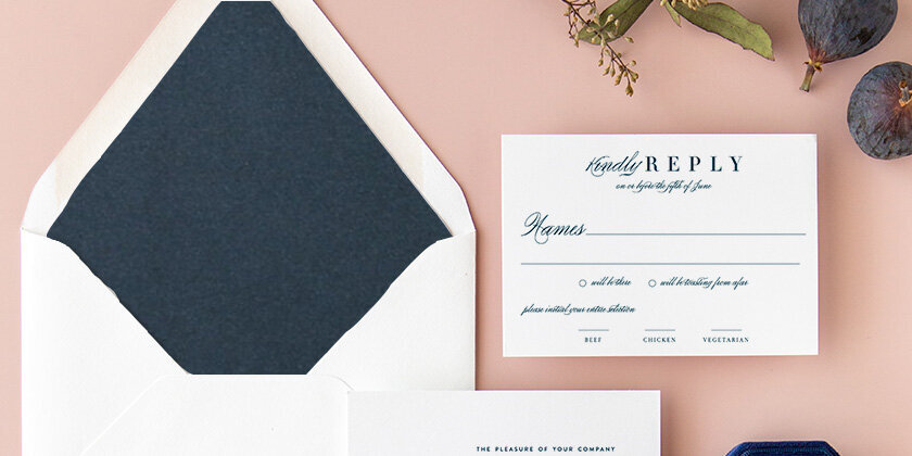 Julie | Modern Crosshatch Wedding Invitation