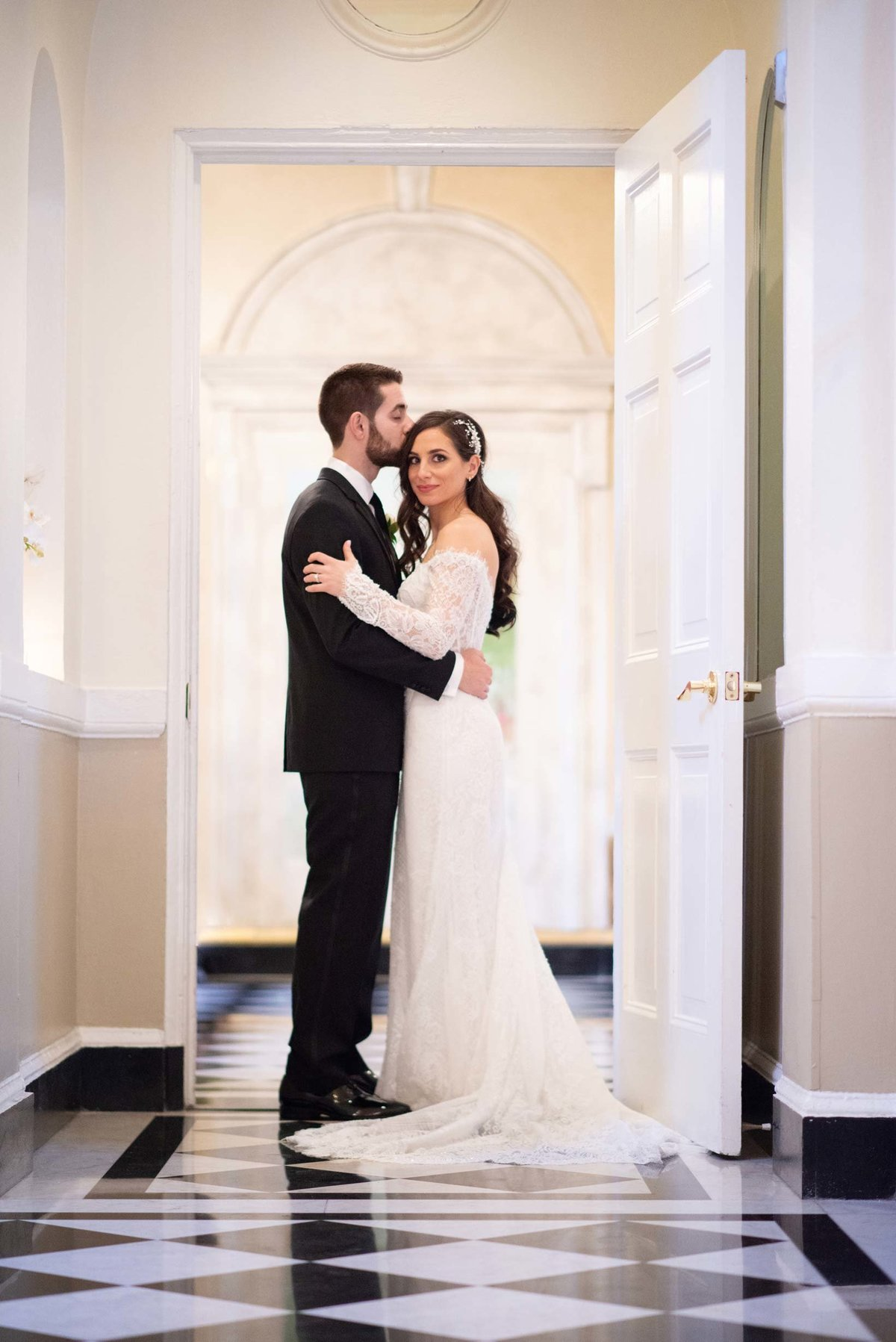 Indoor wedding photos from The Mansion at Oyster Bay
