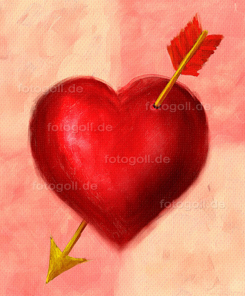 FOTO GOLL - HEART CANVASES - 20120119 - Struck By Cupid_Portrait