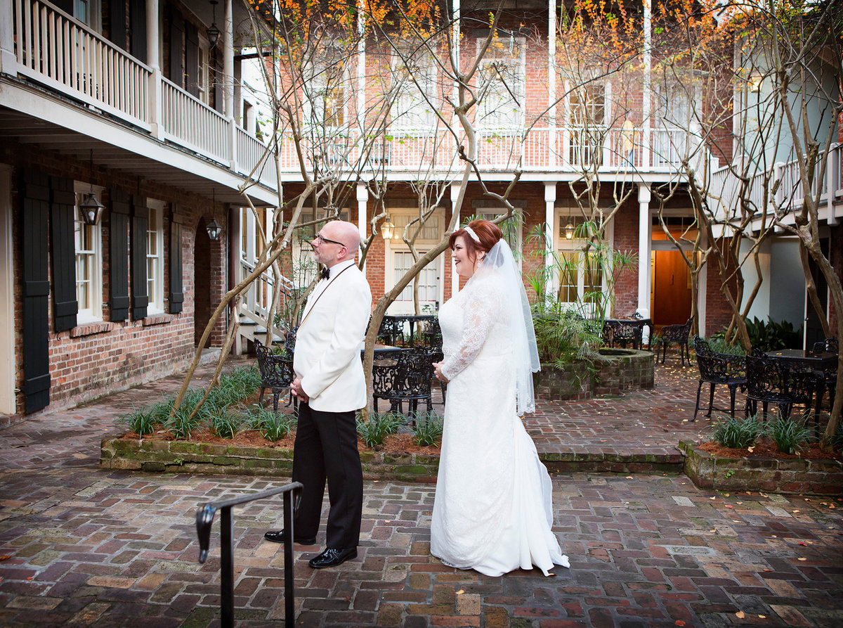 first look in the courtyard of a French Quarter hotel