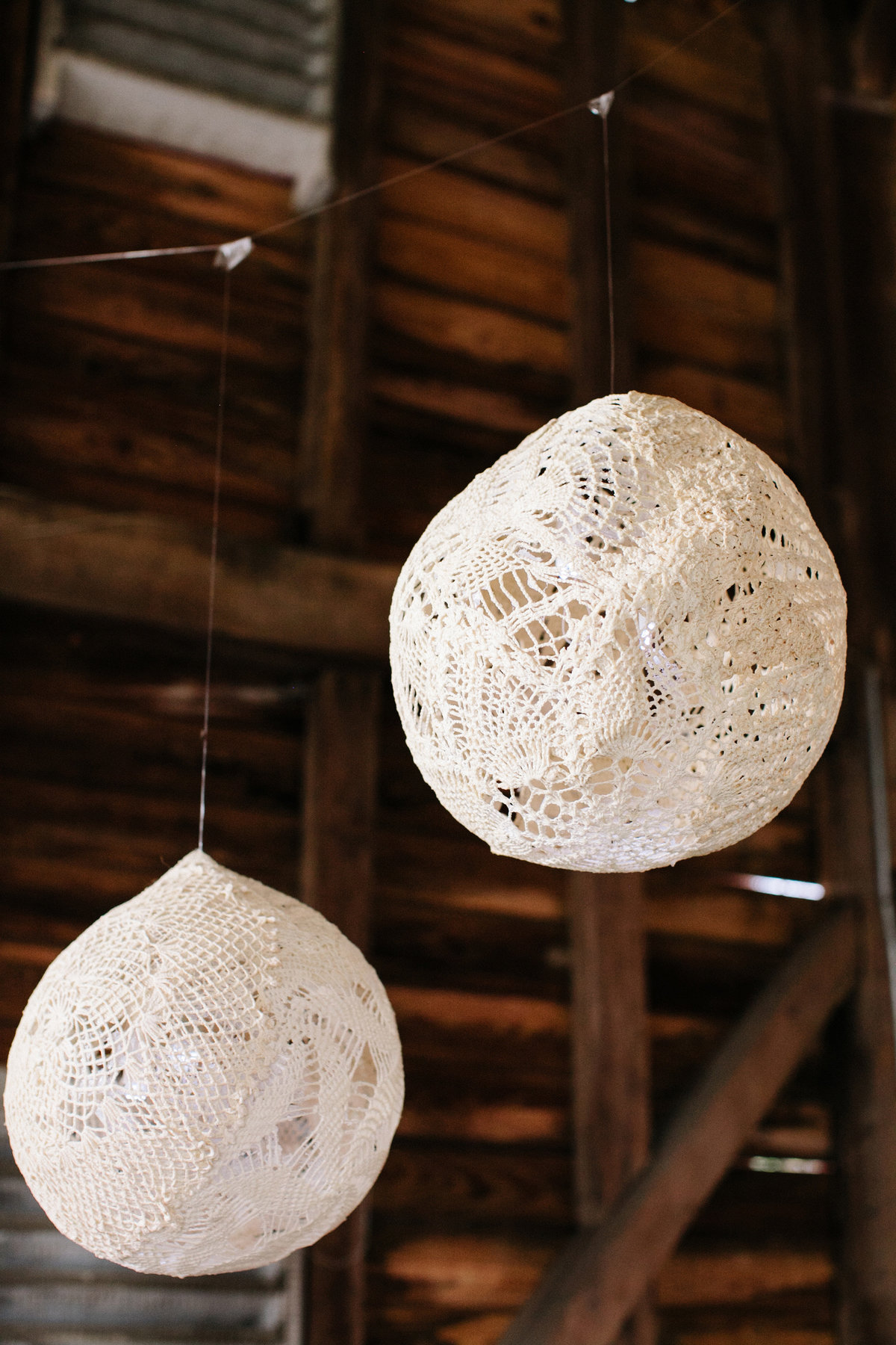 lace diy lanterns