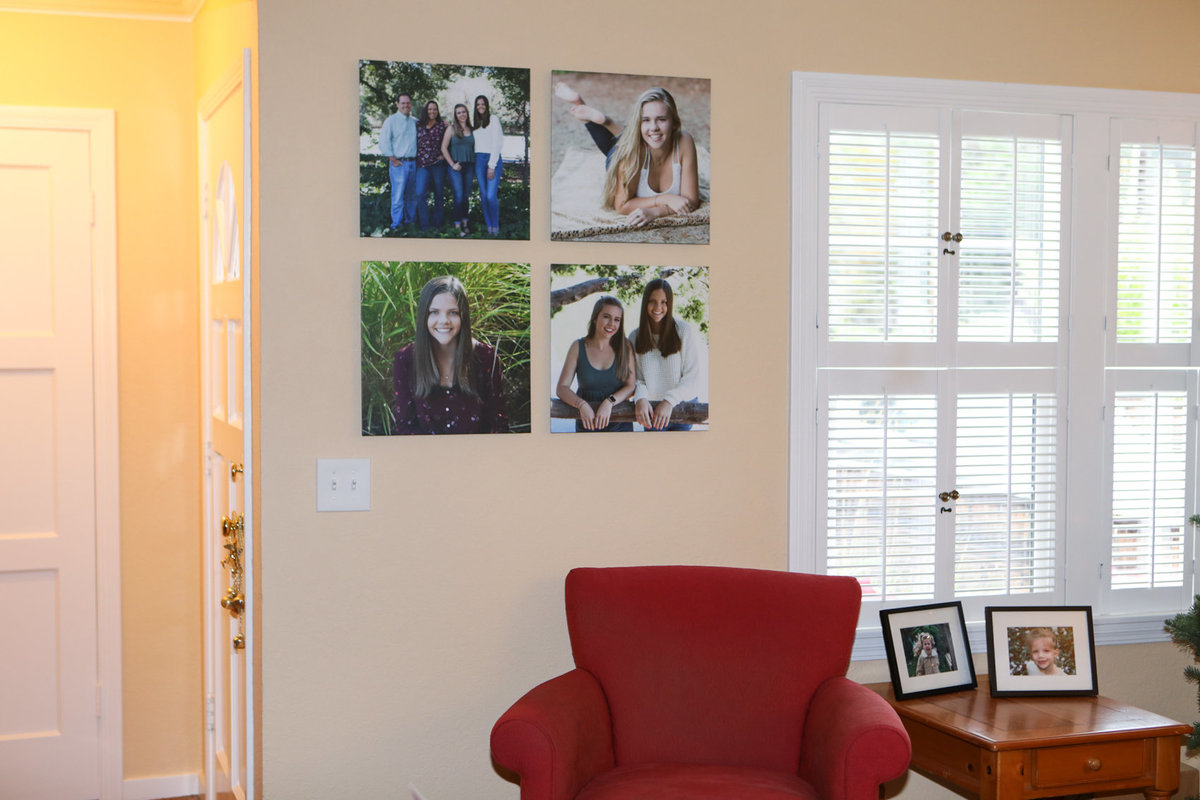 Family canvases wall art, finished installed product