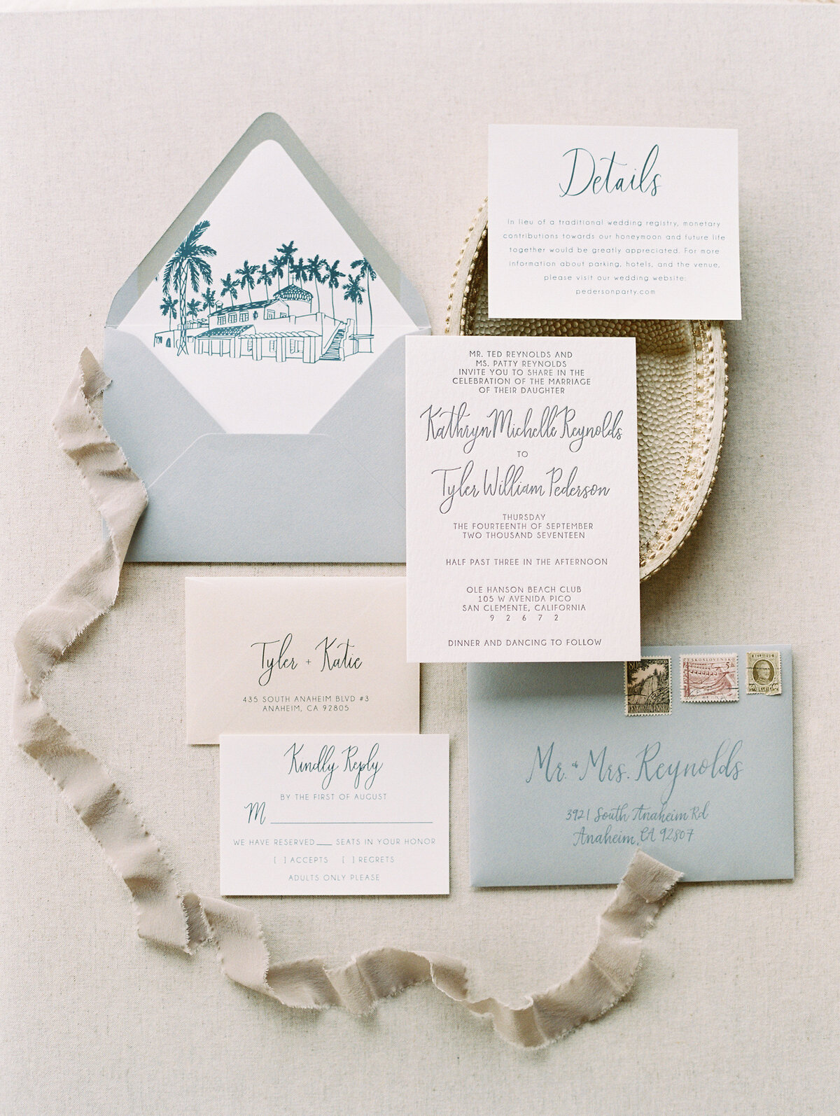 pirouettepaper.com | Wedding Stationery, Signage and Invitations | Pirouette Paper Company | Ole Hanson Beach Club San Clemente Wedding | Mallory Dawn Photography  (20)