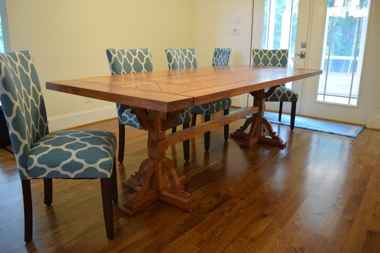 Solid Hickory Dining Room Table by Sam Rouse Furniture