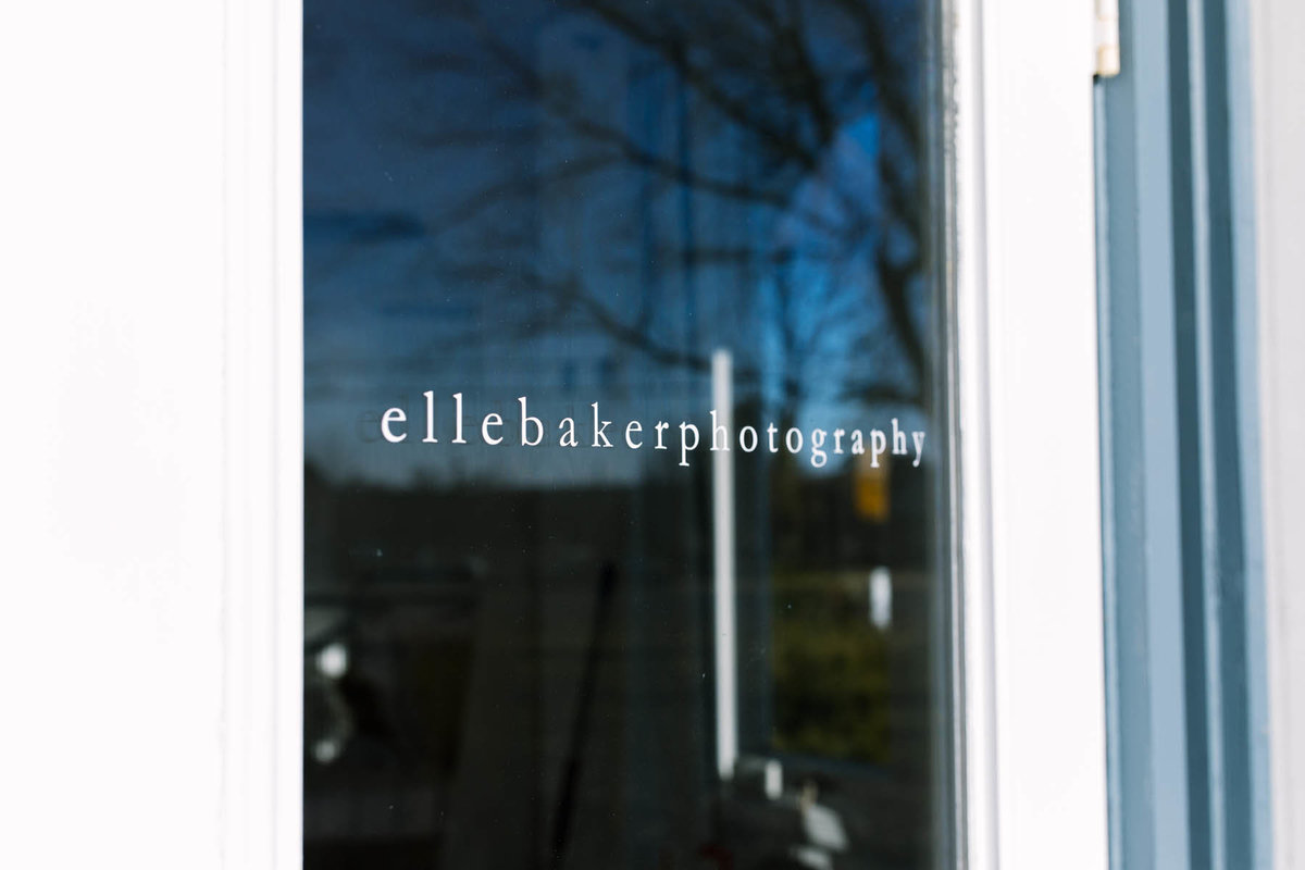 Elle Baker Photography door signage