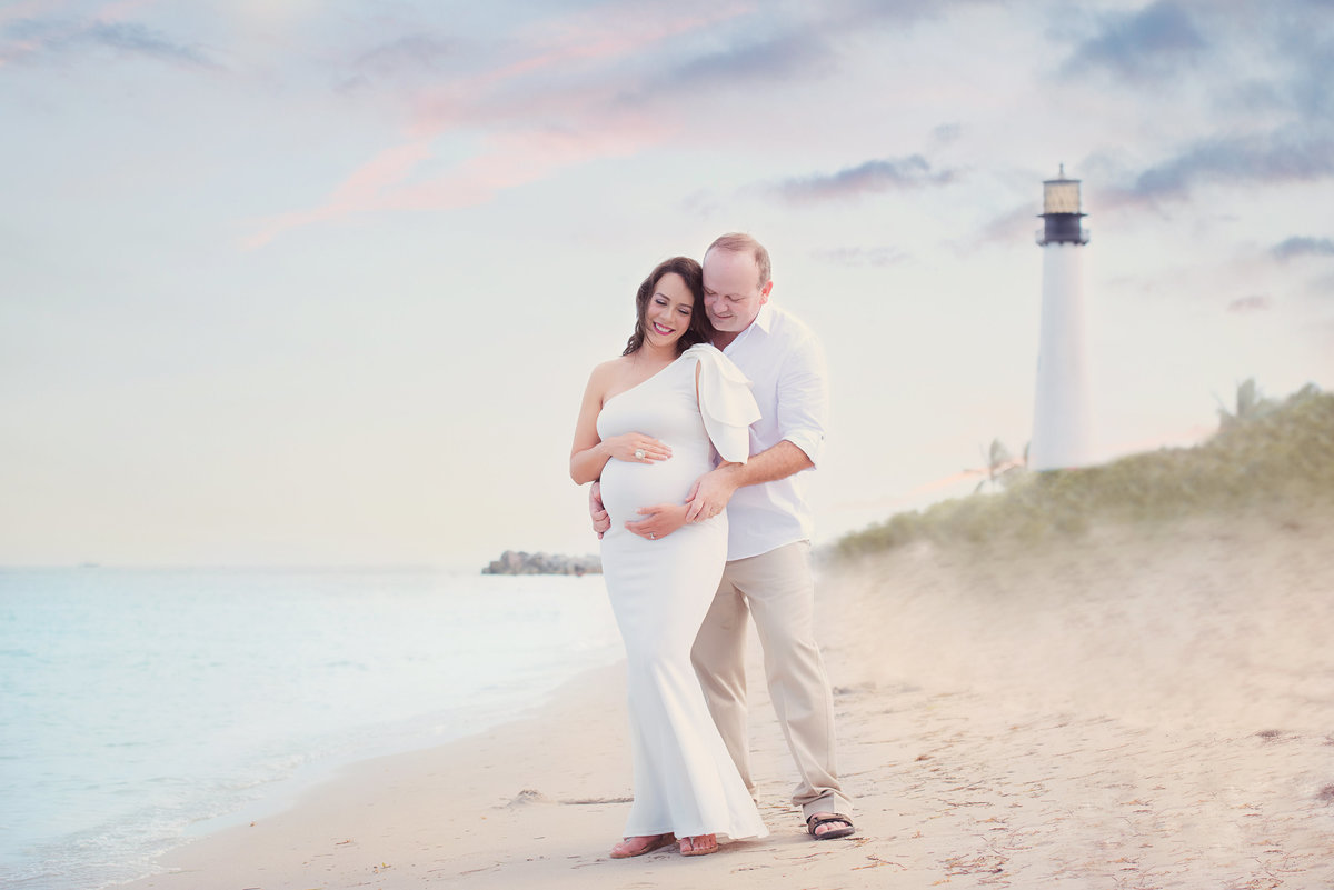 miami maternity session at beach