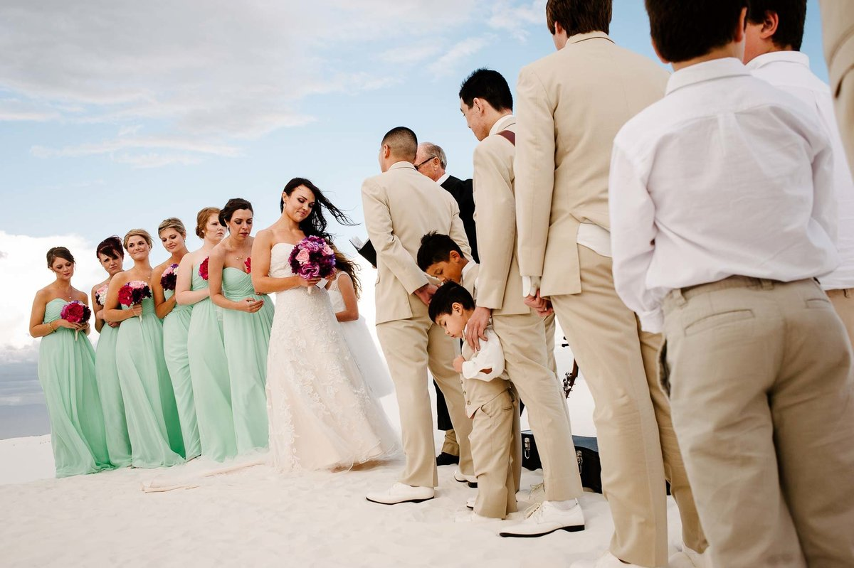 wedding ceremony at white sands