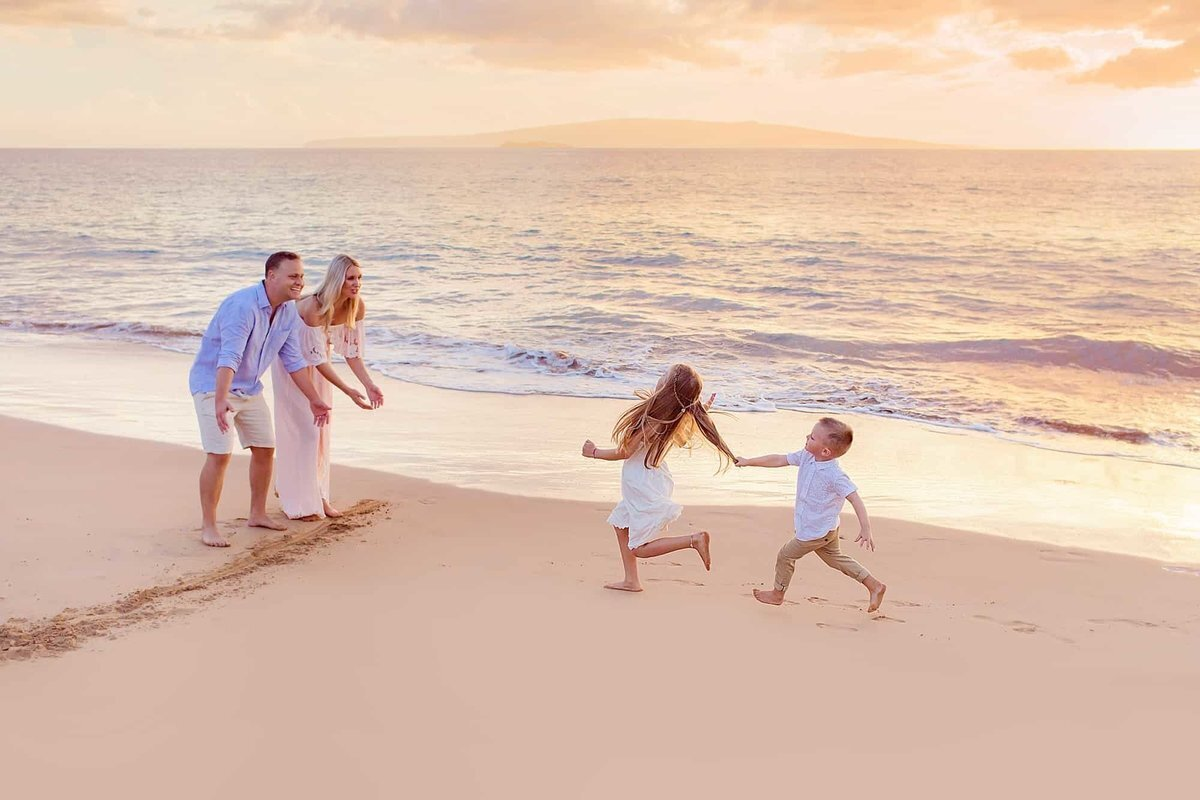 Fun portrait session at the beach on Maui