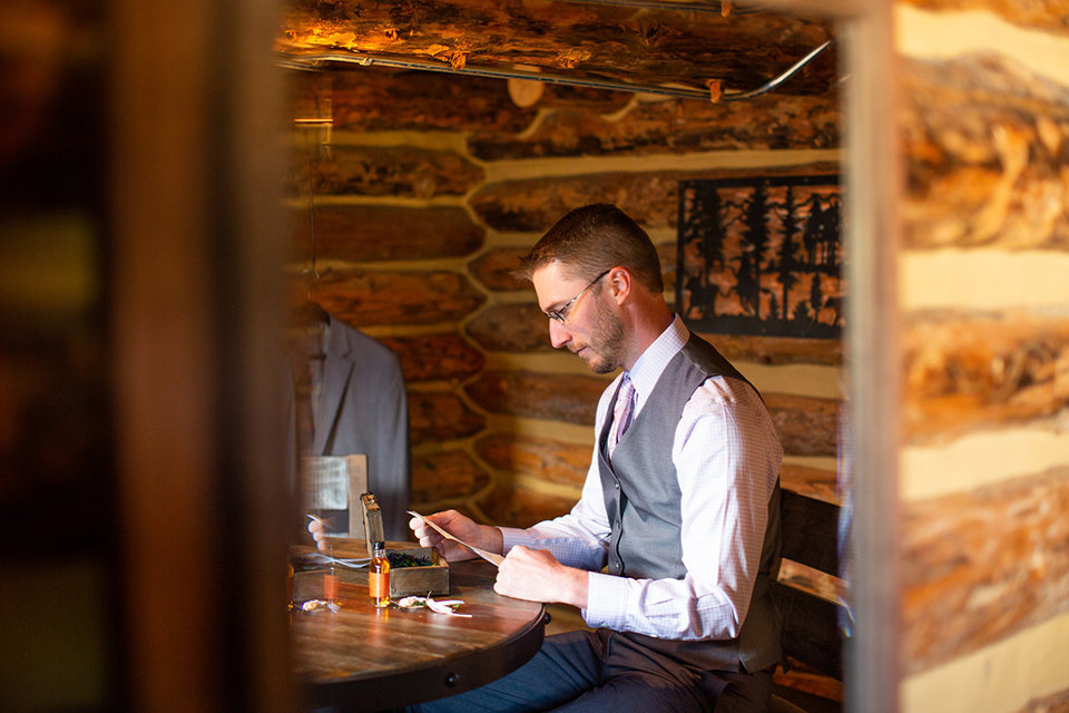 Strawberry-Creek-Ranch-Wedding-Ashley-McKenzie-Photography-Small-Wildflower-Outdoor-Wedding-Groom-reading-letter