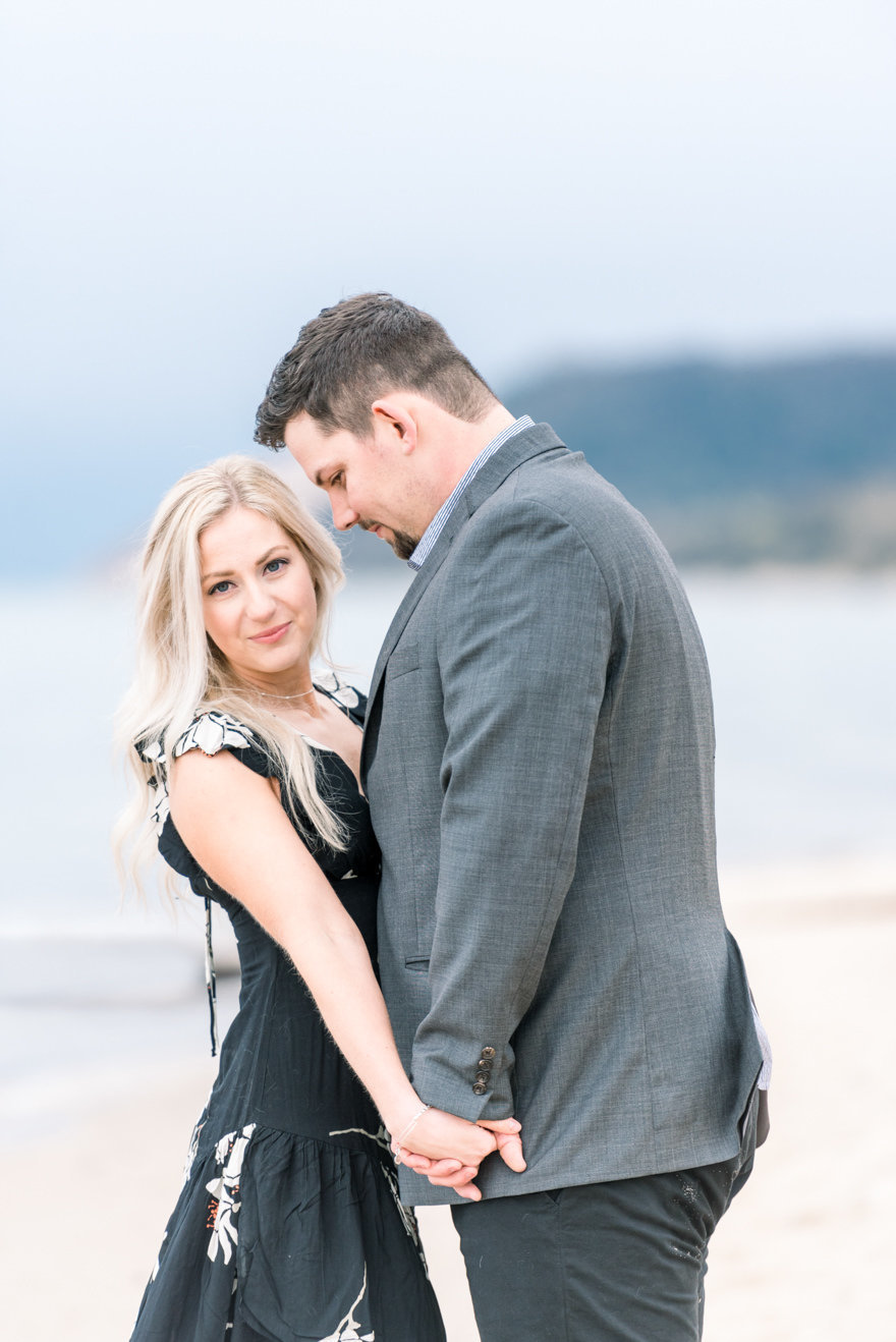 northermichigan beach engagement photography