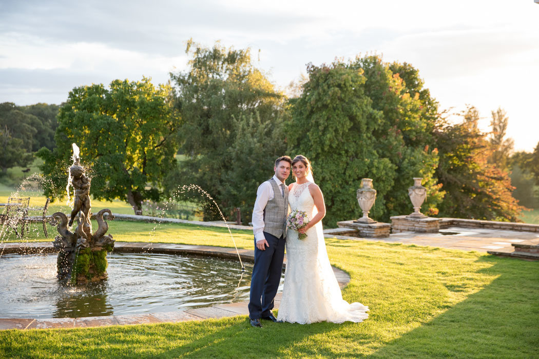 Couple in evening sun at Rockbeare Manor Exeter