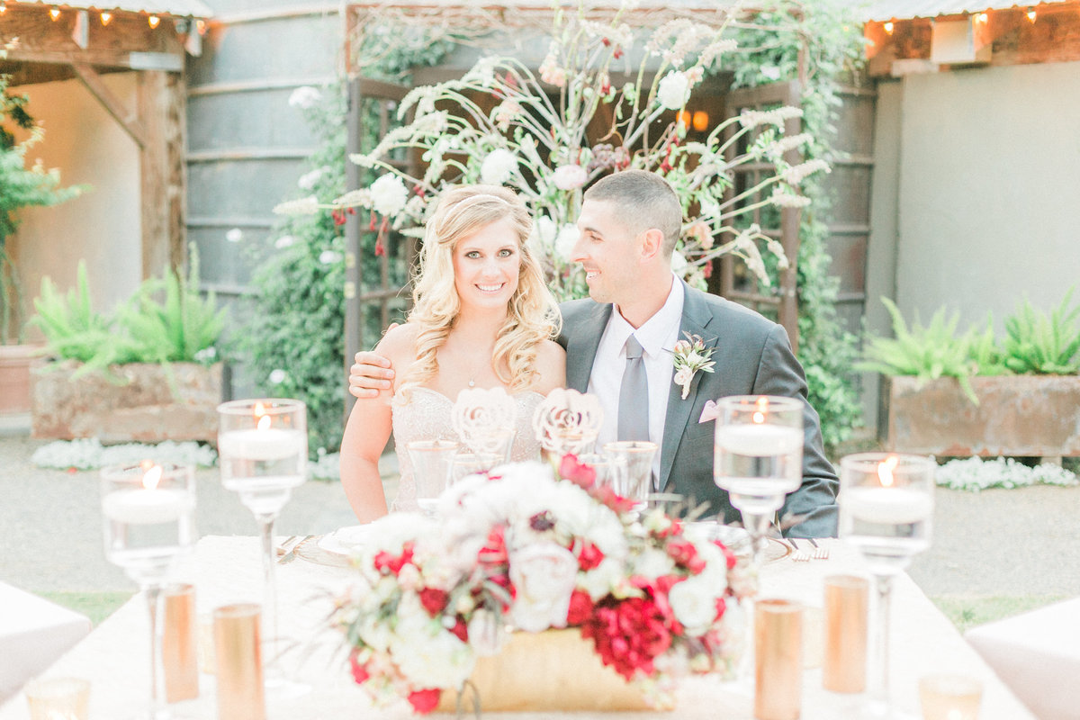 Glam Rustic Outdoor Wedding Reception