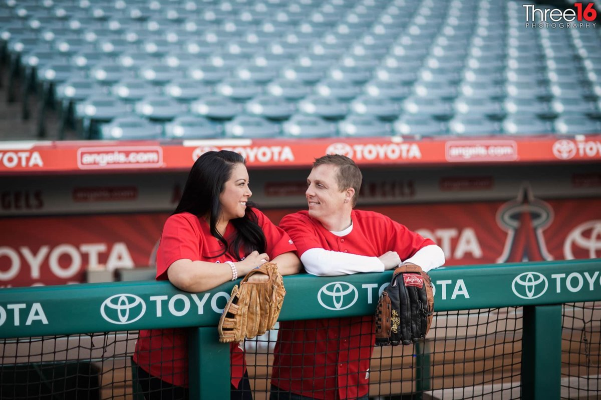 Angel Stadium Engagement Photos Orange County