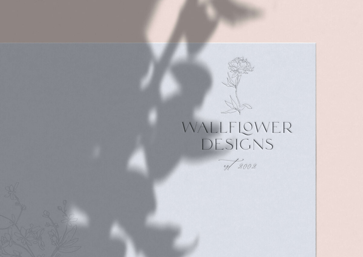 Wallflower Designs Custom hand drawn Logo