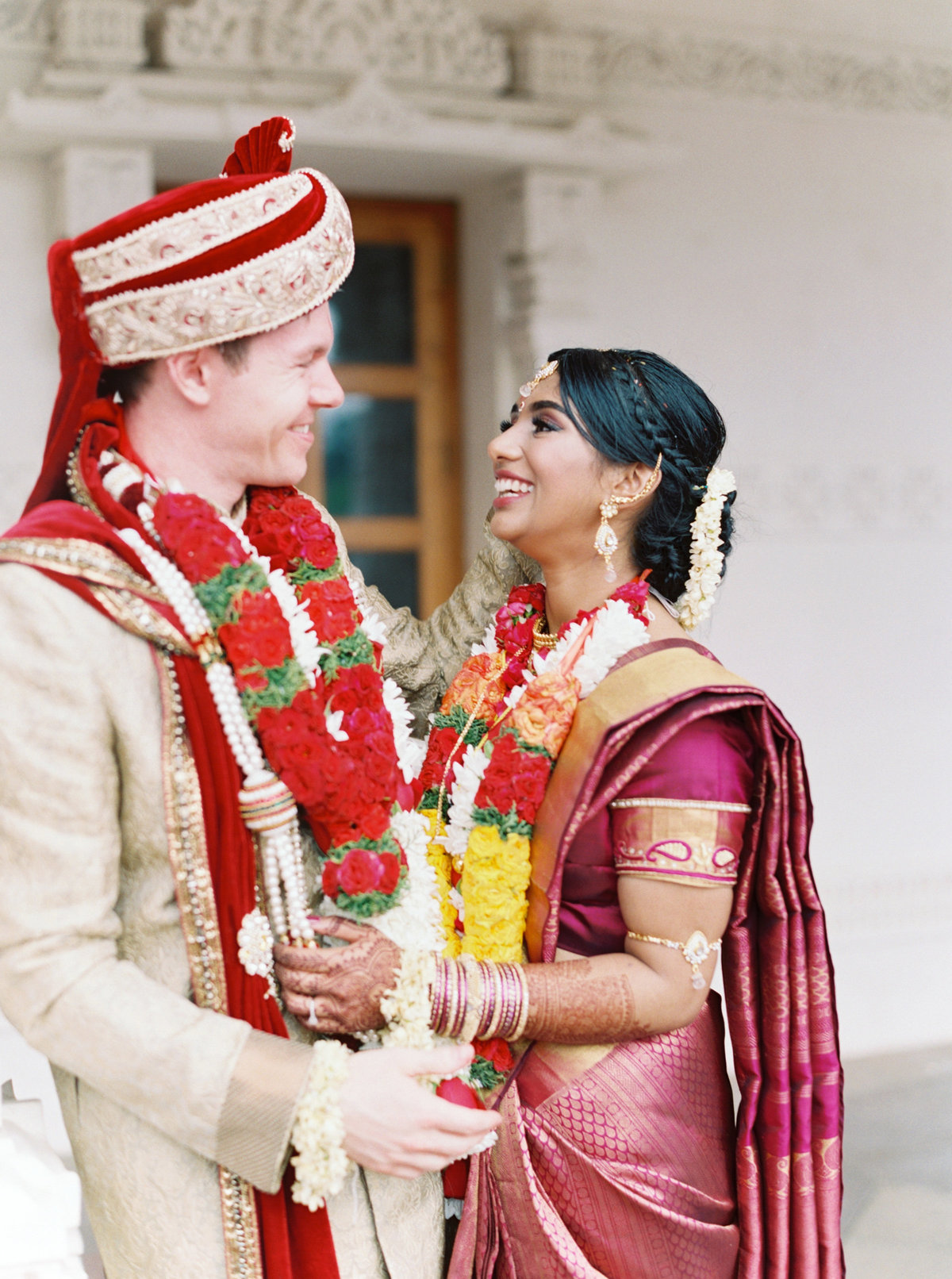 Kavya + Eric Couple Portraits BAPS Mandir Atlanta Wedding 077