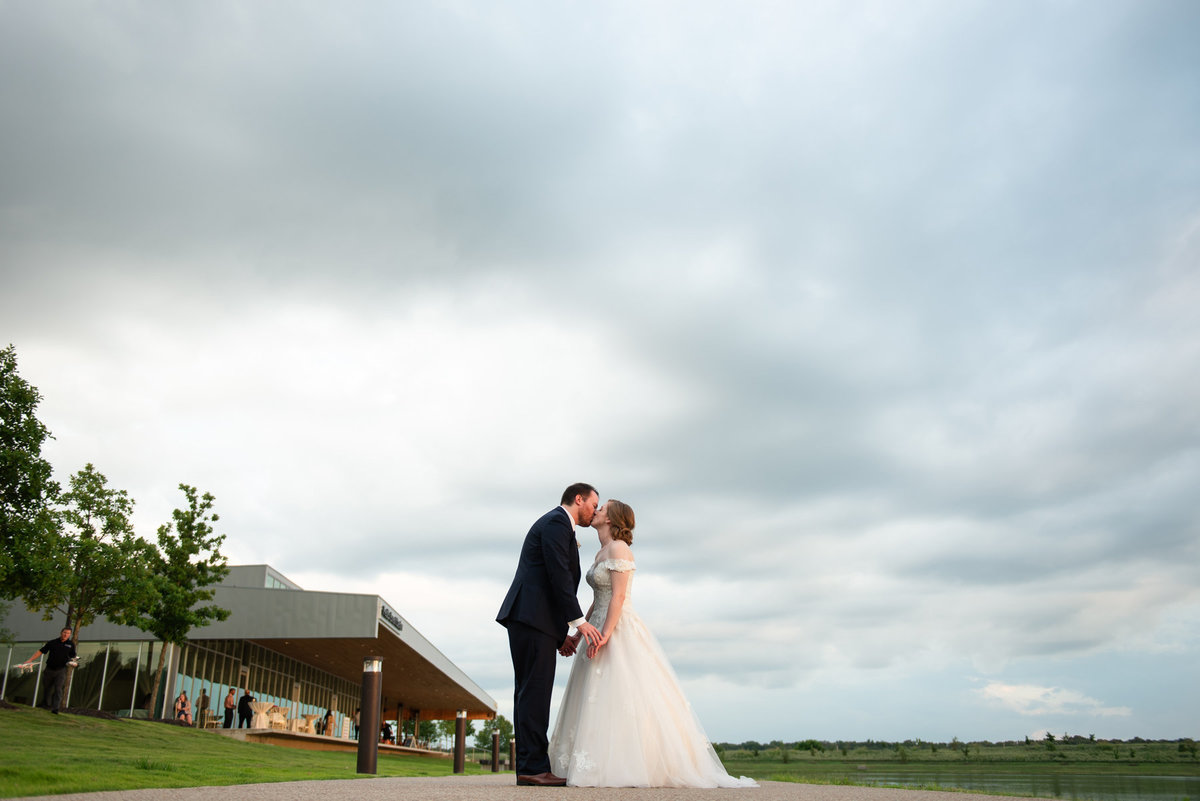 fedex event center wedding portrait