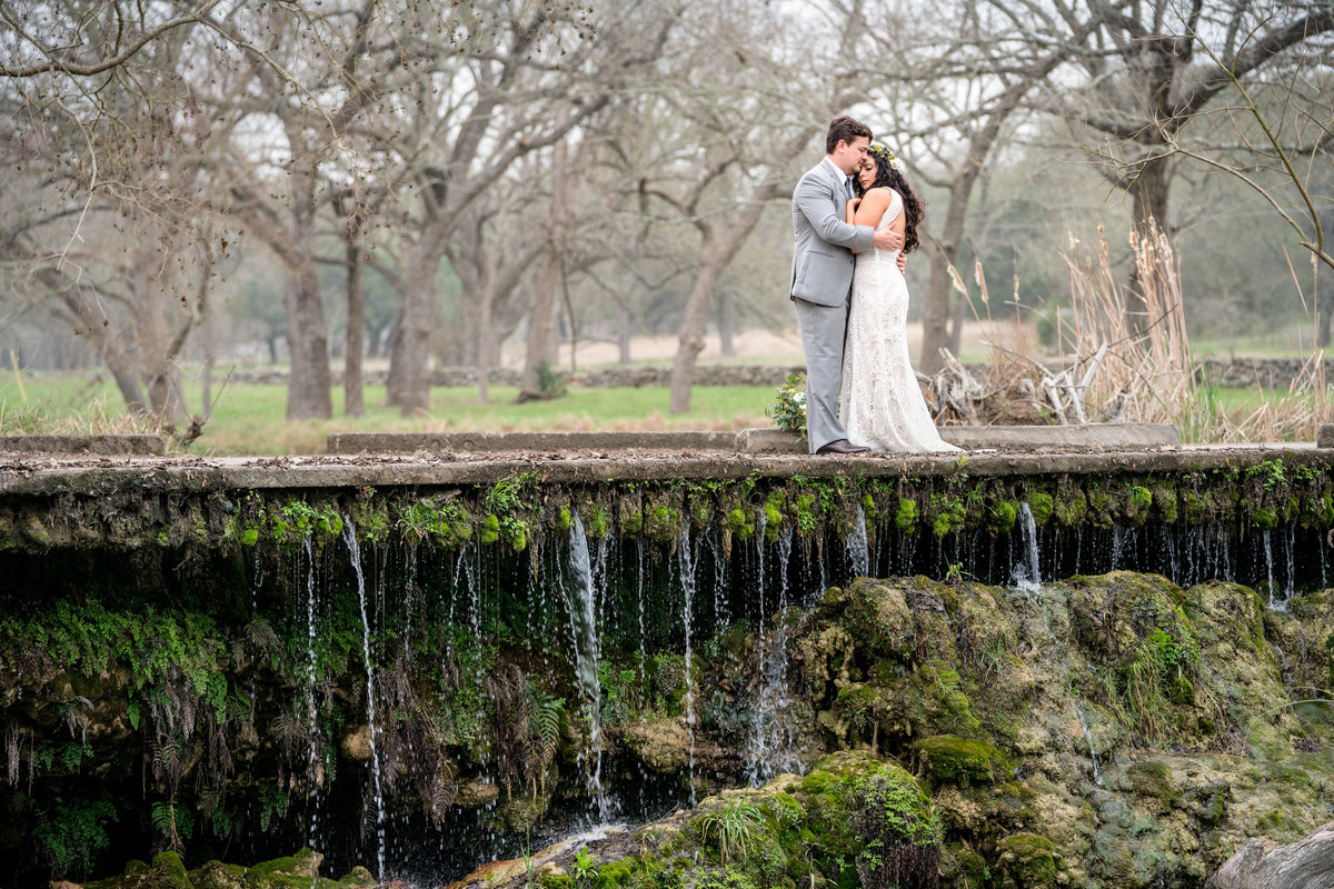 destination wedding photographer bride groom waterfall Austin Texas