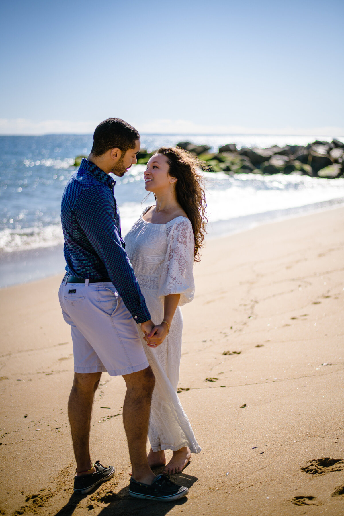 Plum Island engagement session at beach