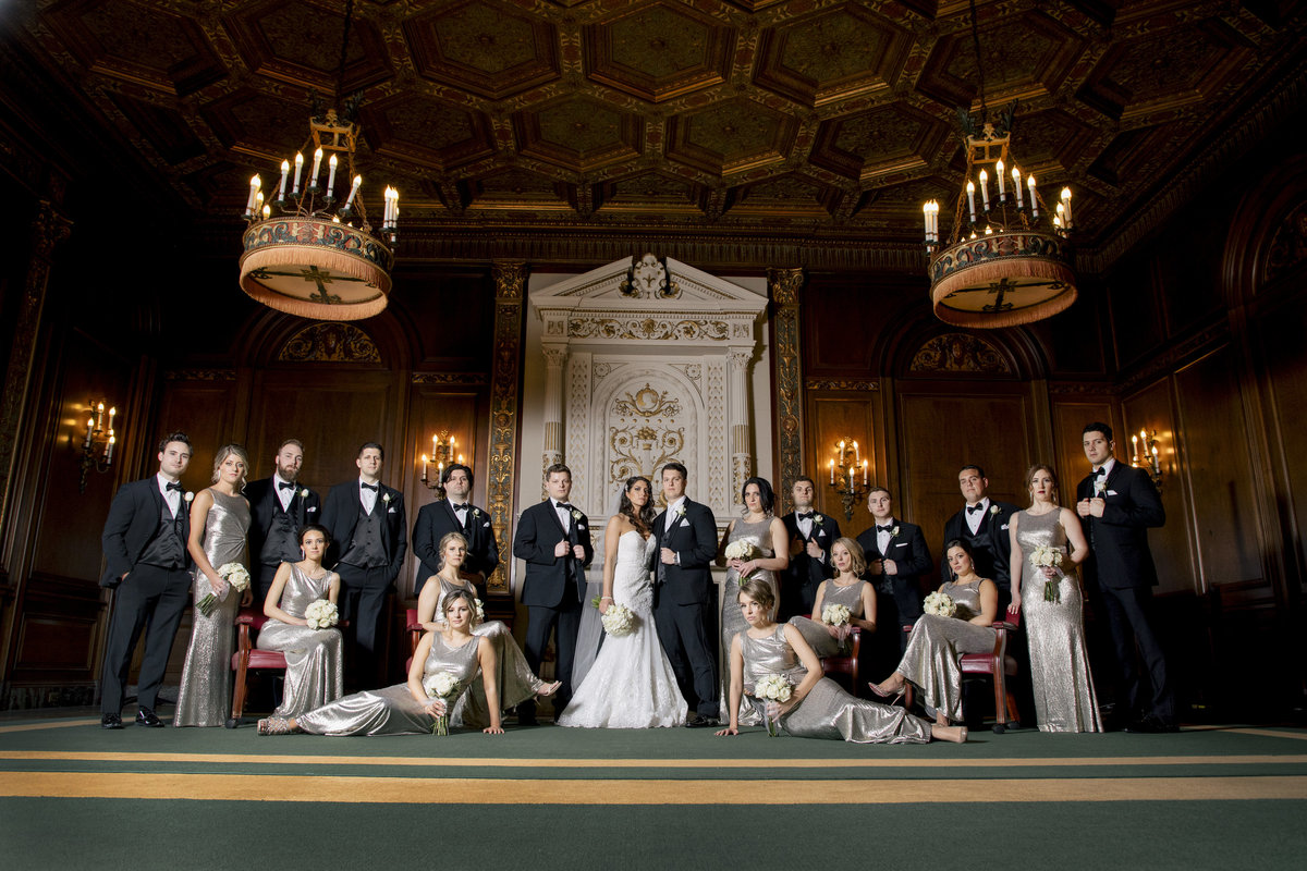 bridal party at Monmouth university  wedding