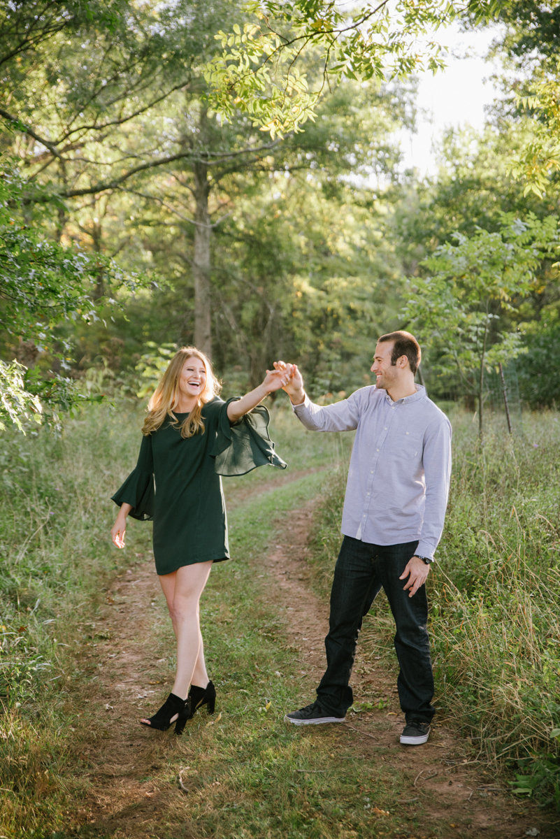 fall engagement whimsical woods forest wanderlust nj new jersey golden hour