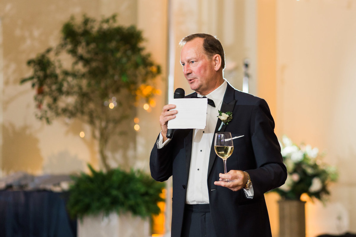Father of the Bride speech. Photo by luxury destination wedding photographer Rebecca Cerasani.