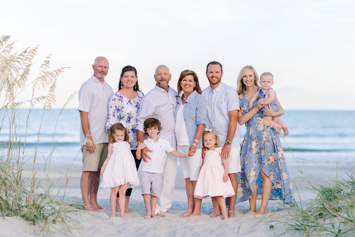 Large Family Beach Photography in Myrtle Beach