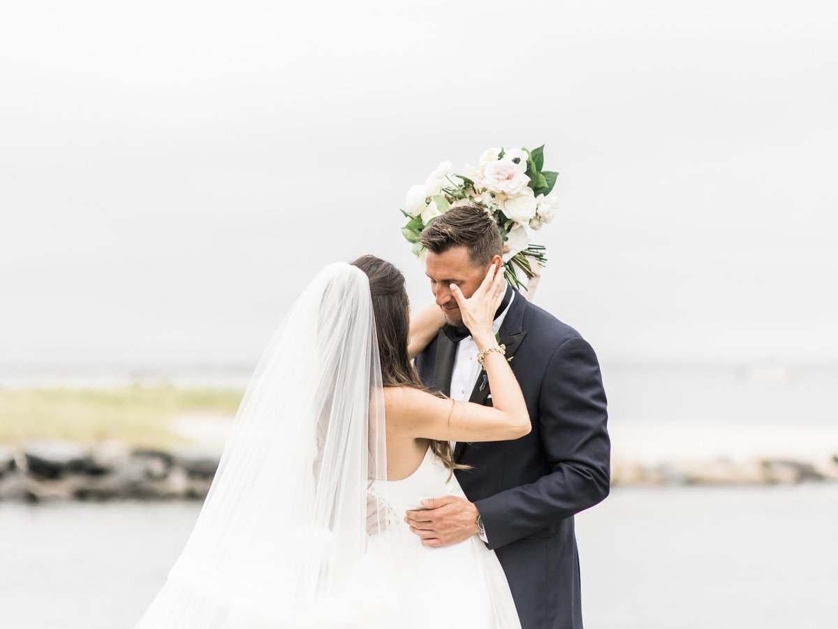 Emotional first look on the ocean on Cape Cod
