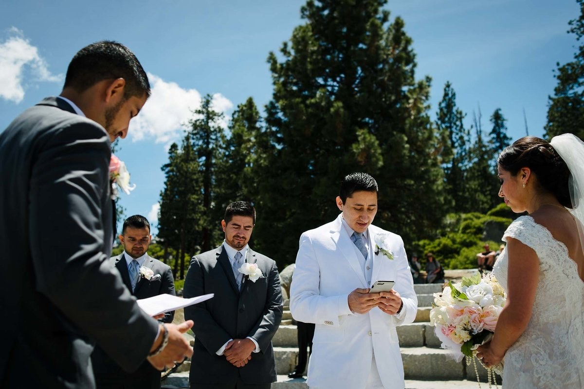 bride and groom exchanges wows WEDDING AT YOSEMITE NATIONAL PARK
