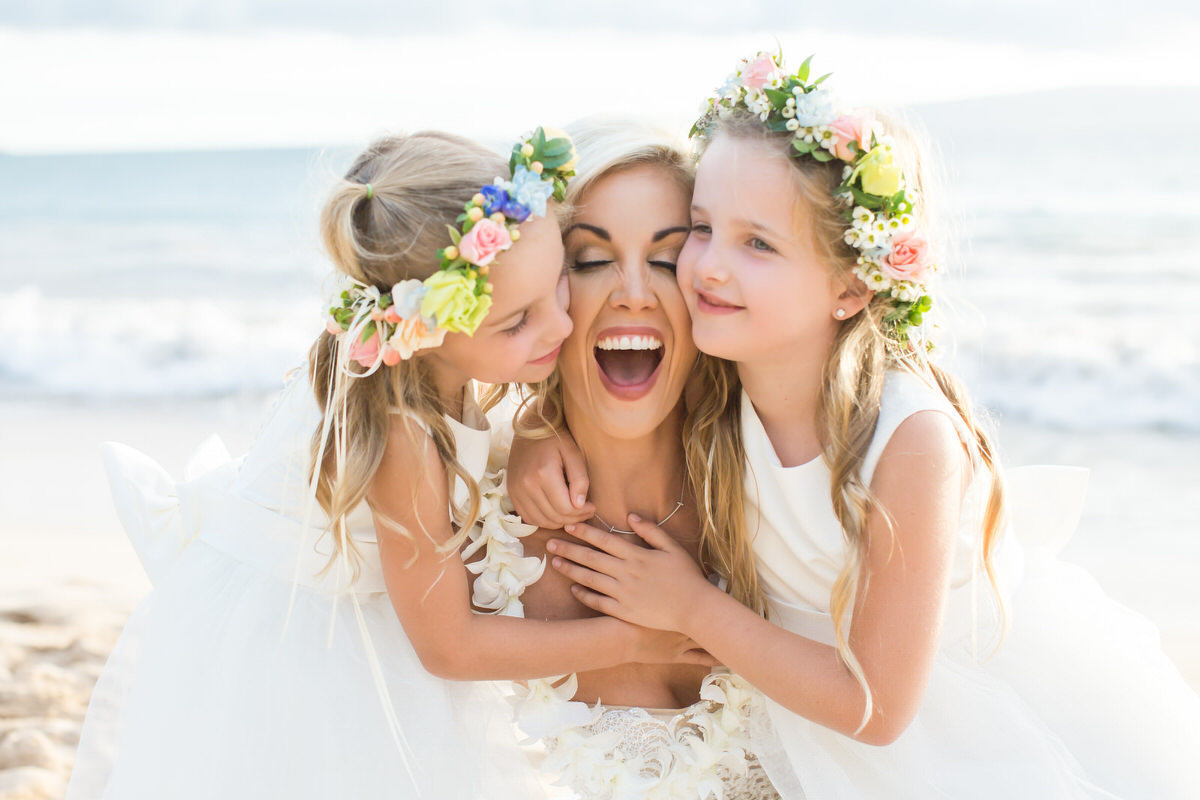 Cute vow renewal image in Maui, Hawaii.