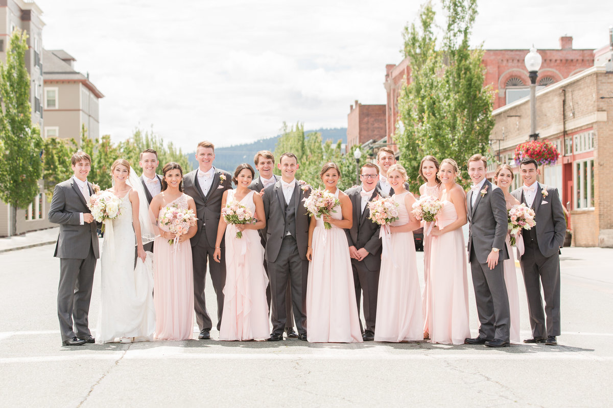 seattle wedding photographer downtown anacortes bridal party photo