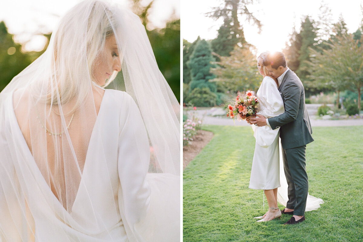 Seattle Rose Garden Micro Wedding - Tetiana Photography - Seattle film wedding photographer - Fine Art - Elopement - 1