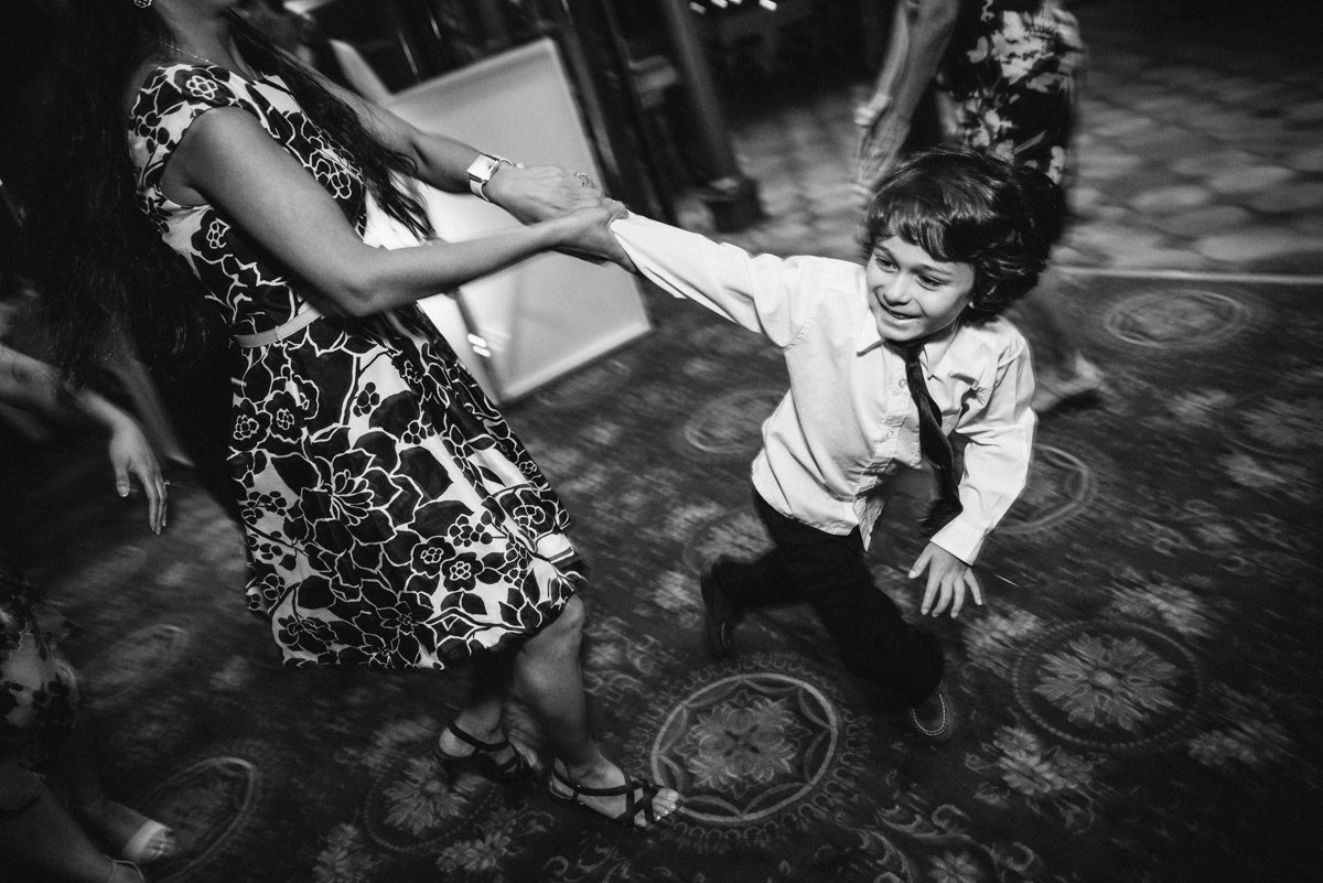 Black and white candid wedding photography in NJ