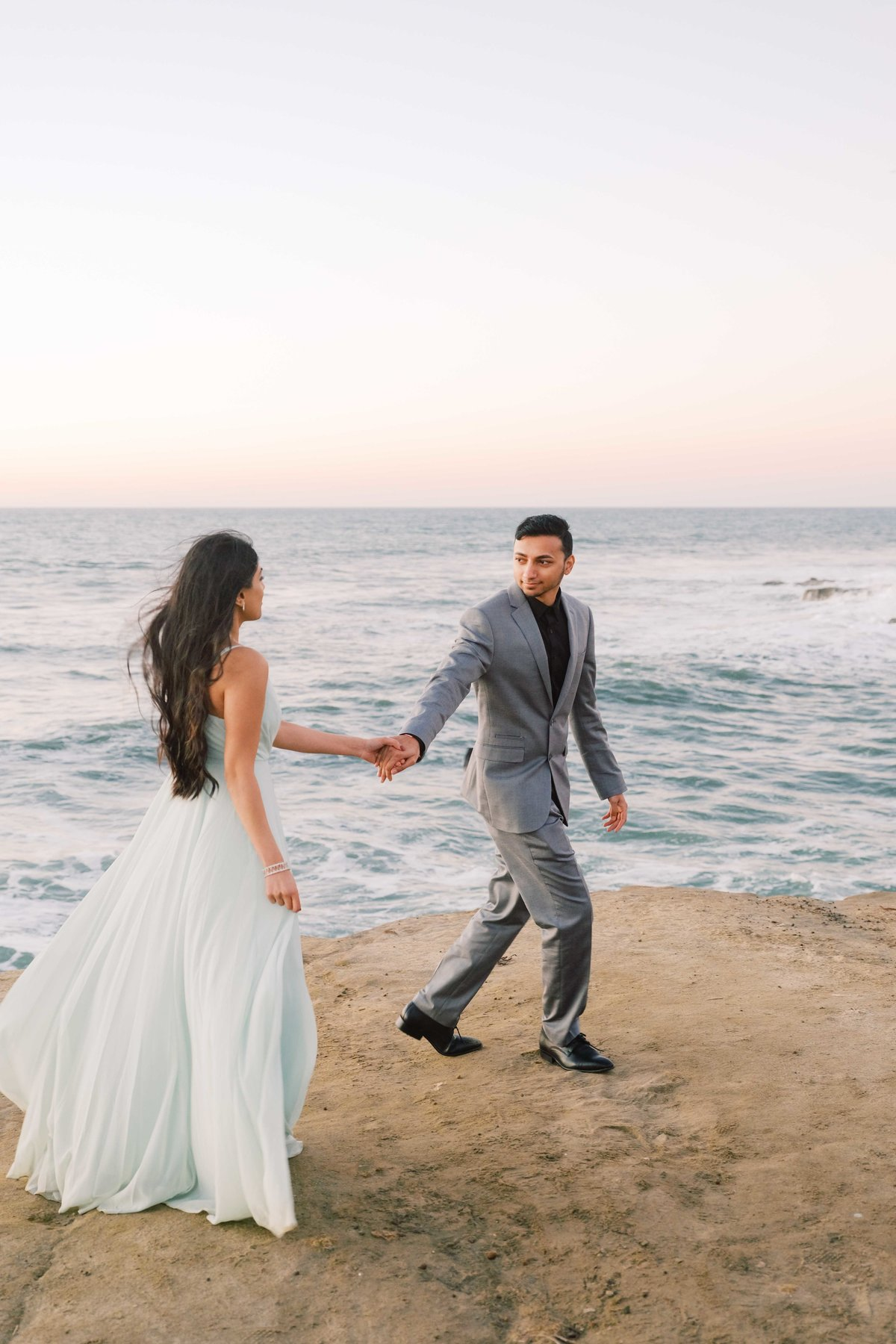 Babsie-Ly-Photography-San-Diego-Proposal-Engagement-Sunset-Cliffs-Indian-Couple-Dog-Surprise-007