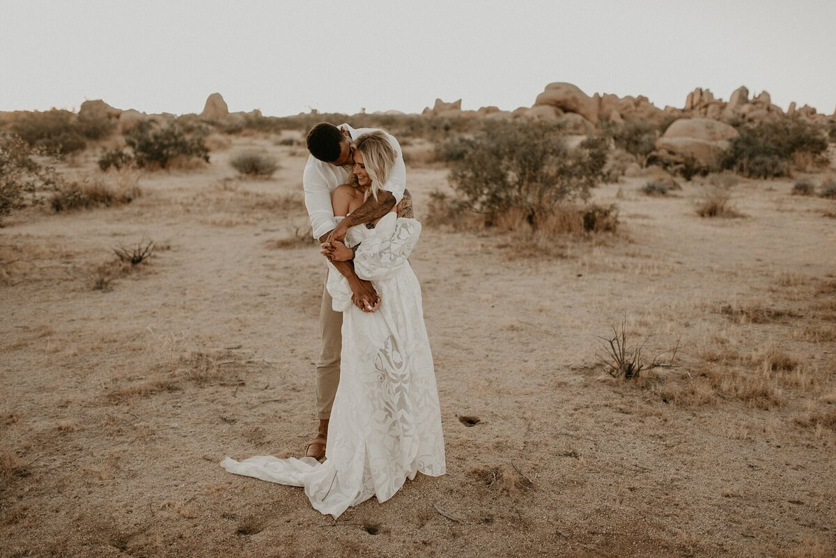 Joshua Tree, California boho styled elopement - California wedding photographer-_0012