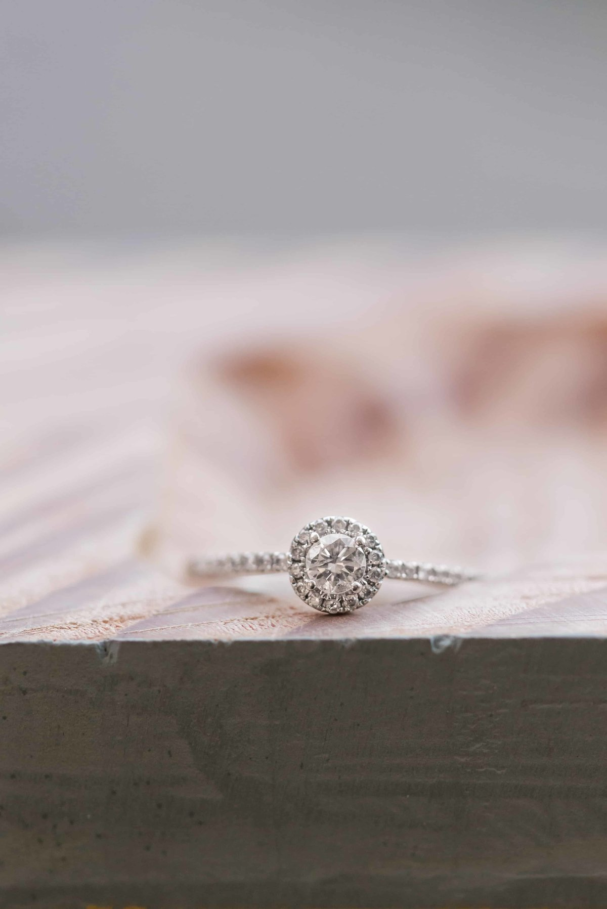 Closeup of engagement ring